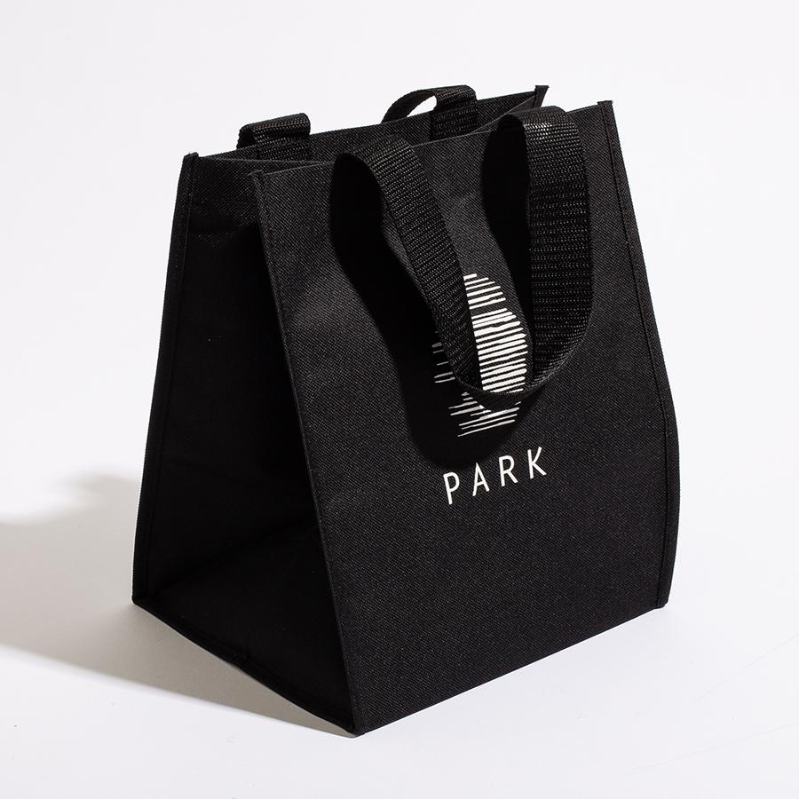 HD Polyester black Park Sushi bag, gourmet food bag, takeout bag,