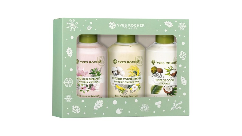 Yves Rocher 2019 holiday packaging for shower gel