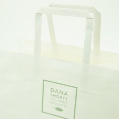 120g white kraft paper with 1-colour logo print