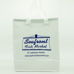 non-woven bag with extra insulation and glossy lamination. Features a 1-colour print and full-flap zipper