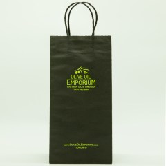 120g paper bag with 1-colour logo print and side gusset printing
