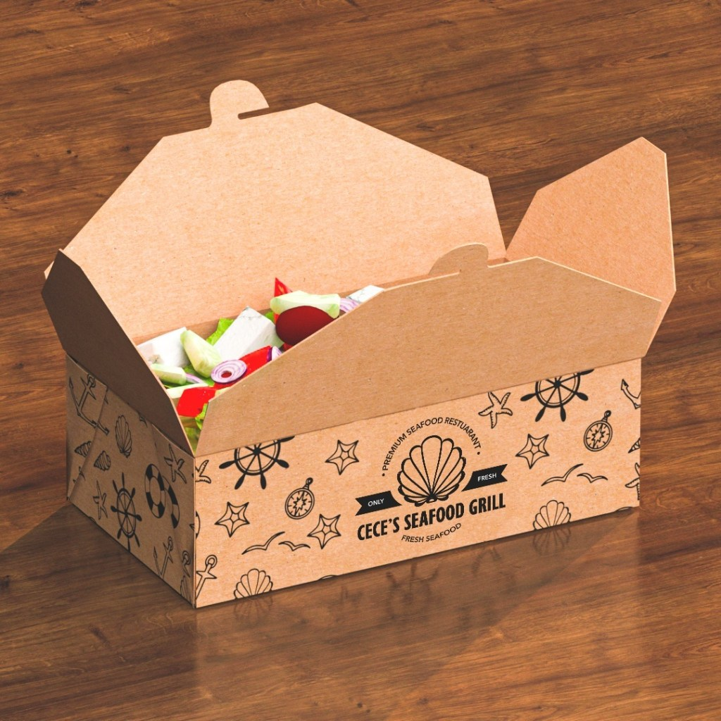 Kraft paper boxes show value in packaging by being compostable when soiled