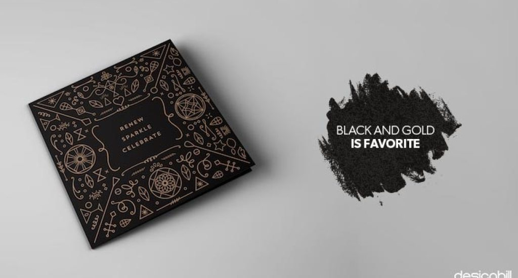 Black and gold is a favourite for holiday packaging