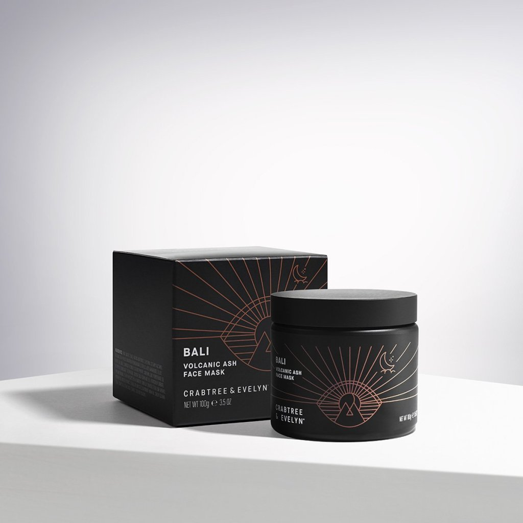 crabtree and Evelyn packaging design for face mask