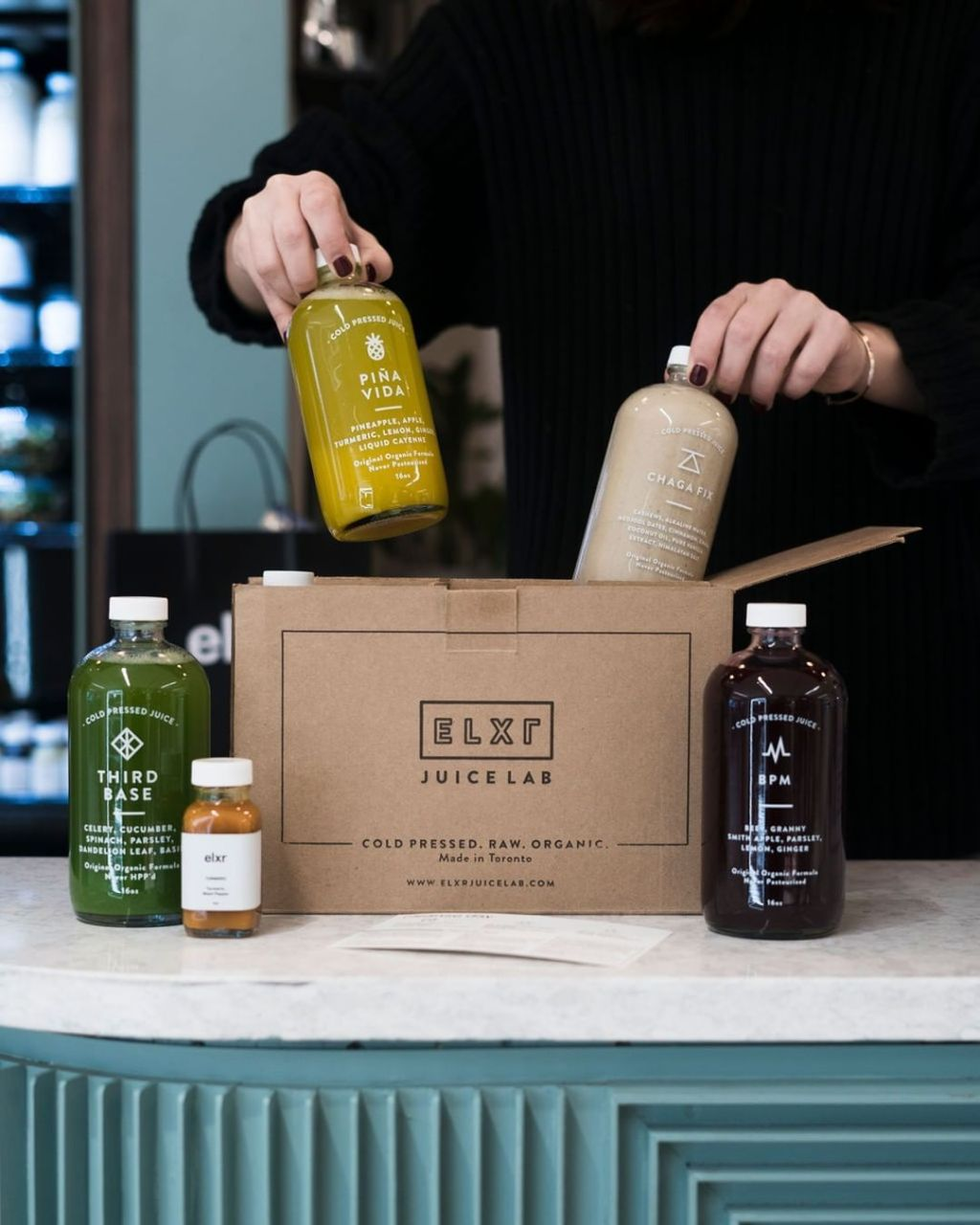 ELXR ensuring to market in their packaging that their ingredients are organic.