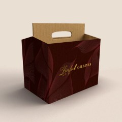 6-pack carrier suitable for beers or single servings of wine, with a full colour print and gold foil addition