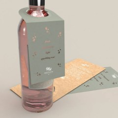 extra advertising space created through bottleneck hangtags with perforated top to ensure the perfect fit