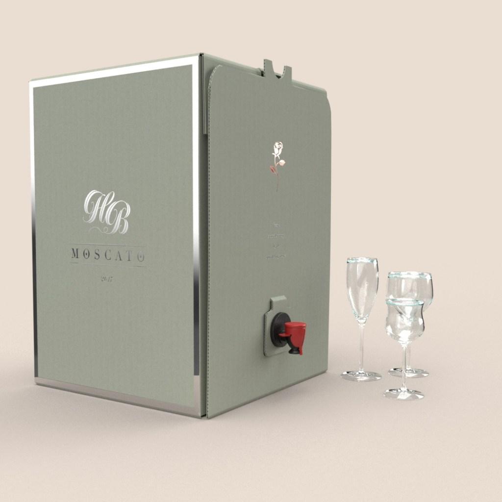 Wine Dispenser w/ Silver Foil