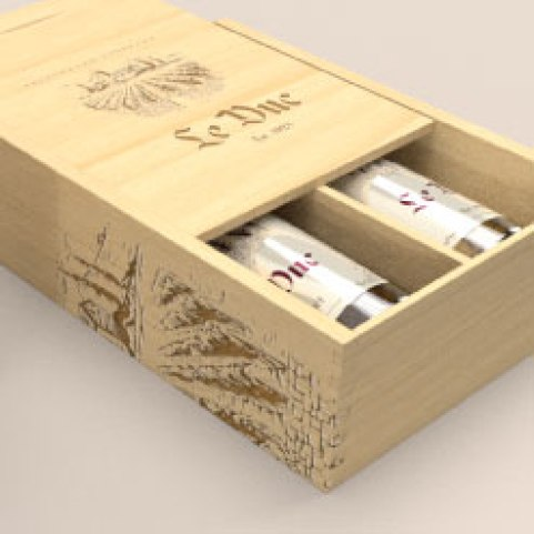 Wood wine boxes can be customized to have dividers