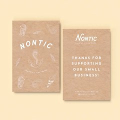 add a custom insert with a one colour print and brown Kraft paper for a more natural look