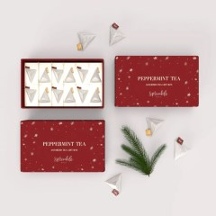 a high quality gifting option that needs no additional wrapping. This box features paper inserts to keep tea bags separated