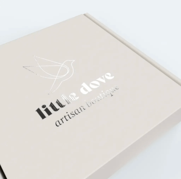 Little Dove's elegant packaging style and minimal box.