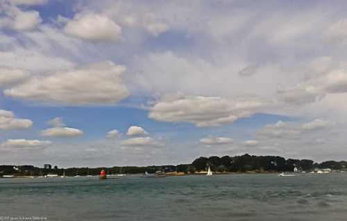 Depuis l'Île-aux-Moines, le long du sentier côtier le 13 août dernier