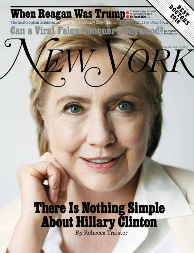 Couverture du New York magazine 30 May - 12 Juin 2016