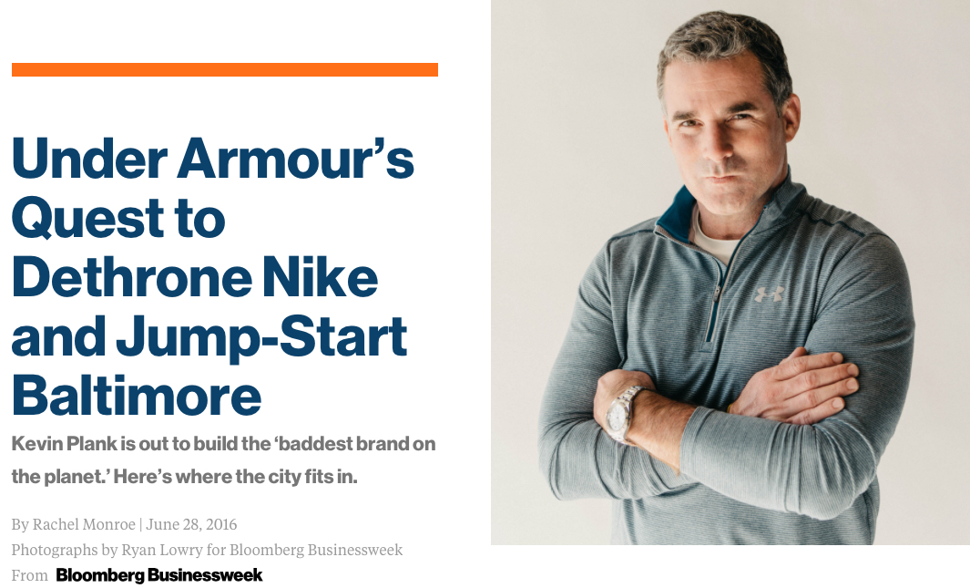 ae5759f4c Bloomberg BusinessWeek: Le fabuleux destin d'Under Armour
