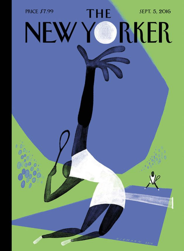 "Couverture du New Yorker - Edition du 29 Août au 05 Septembre 2016: ""Serve"" de Christoph Nieman"