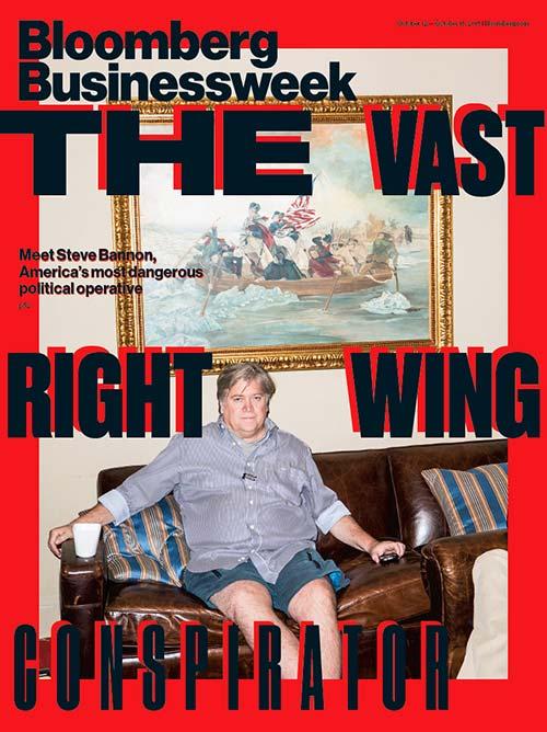 """Bloomberg BusinessWeek d'Octobre 2015 sur Steve Bannon et """"la vaste conspiration de droite"""""""