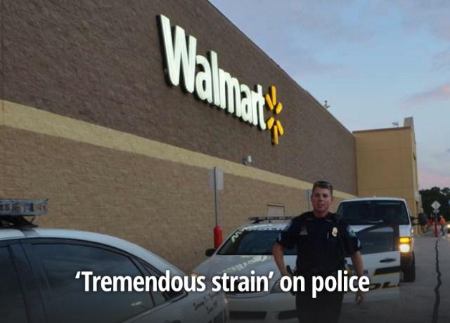 Capture d'écran d'une photo publiée par le Tampa Bay Times sur Walmart en Mai 2016