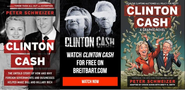 Clinton Cash: The Untold Story of How and Why Foreign Governments and Businesses Helped Make Bill and Hillary Rich - By Peter Schweizer published by HarperCollins. Un adaptation cinématographique et Bande dessinée a été réalisé cette année.