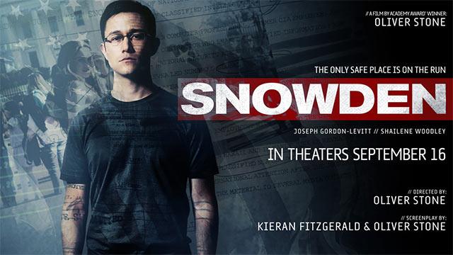 Snowden de Oliver Stone avec Joseph Gordon-Levitt sort aux Etats-Unis ce vendredi 16 Septembre 2016