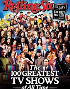"Rolling Stone - Edition du 6 Octobre 2016: ""Greatest TV Shows of all time"""
