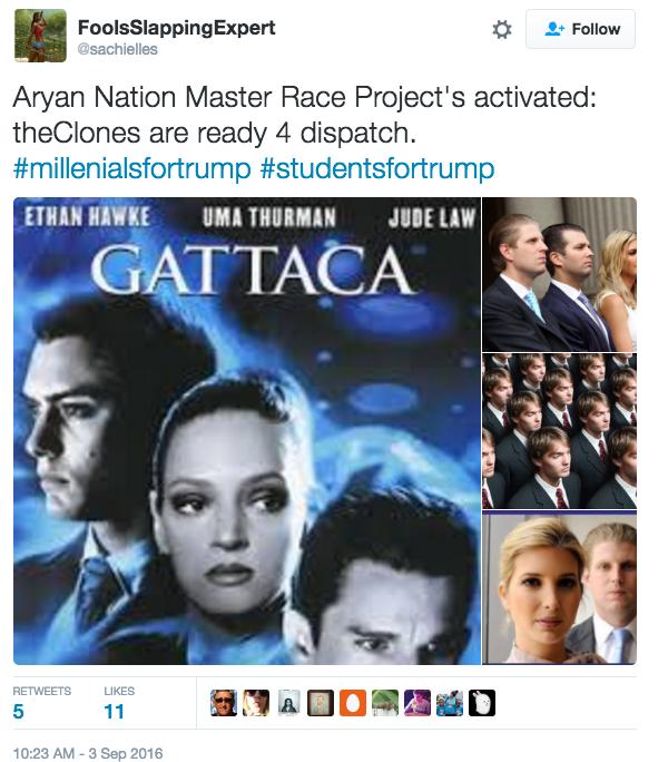 """Le grand projet racial de la nation aryenne activé: les clones sont prêts à être envoyés"""" - Twitter/sachielles"""