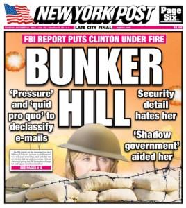 New  York Post - Edition du 18 octobre 2016