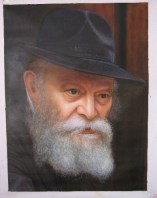 Original painting of the Rebbe 24x30 acrylic on canvas