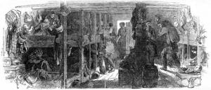 L'intérieur d'une cabine pour les immigrants
