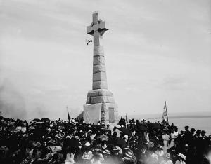 Inauguration de la croix celtique en 1909