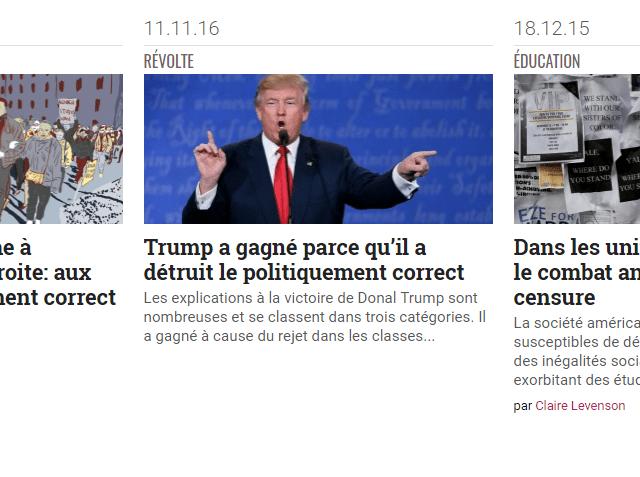 Toute la série, en français, des articles de la revue Slate sur le politically correct.