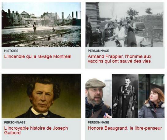 Sites internet en histoire du Québec| Patrimoine, Histoire et Multimédia