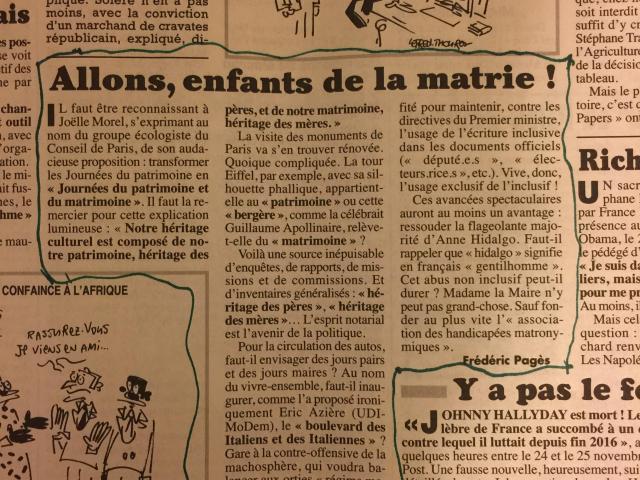 La France a aussi sa Manon Massé. Lu dans le Canard enchaîné du 29 novembre.