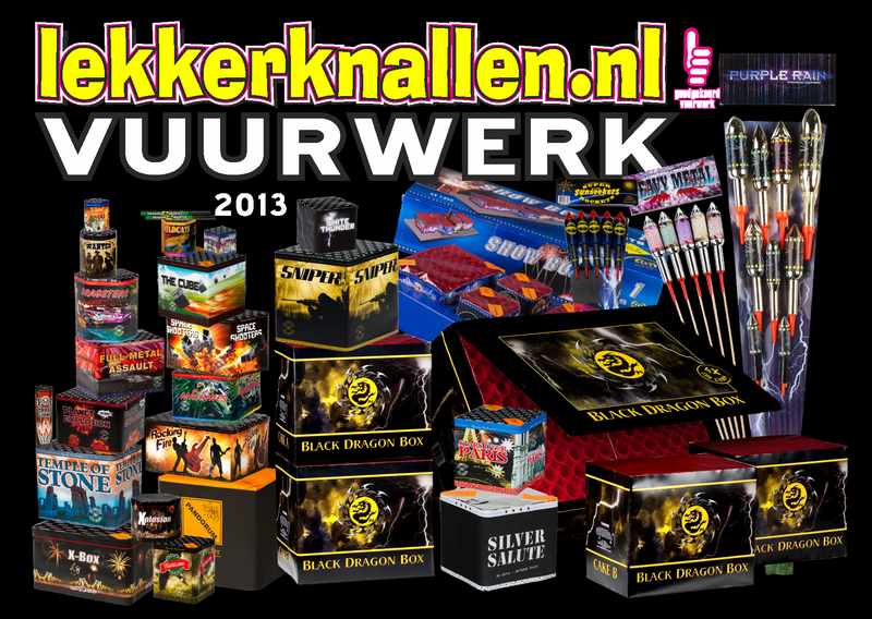 Assortiment vuurwerk lekkerknallen.nl 2013 Wolff