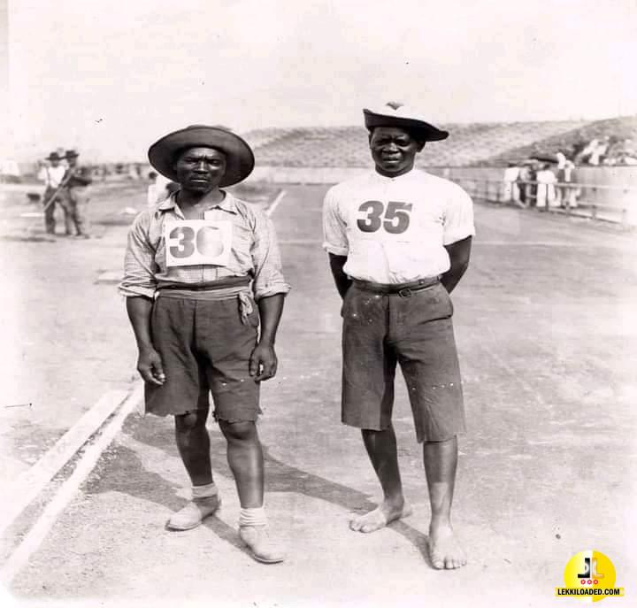 The first black Africans to compete in the Olympics