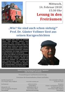 Lesung Prof. Dr. Günter Vollmer