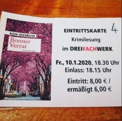 Plakat Alexa Thiesmeyer - Bonner Verrat