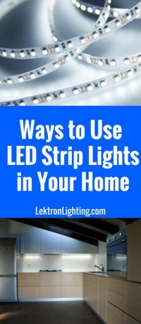20 LED Light Strip Ideas For Your Home - Lektron Lighting