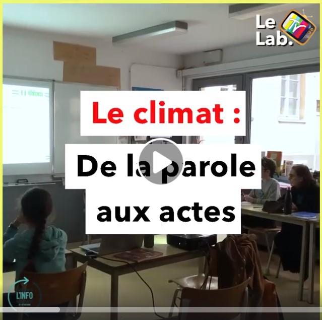 LeLabTV – Le climat : de la parole aux actes