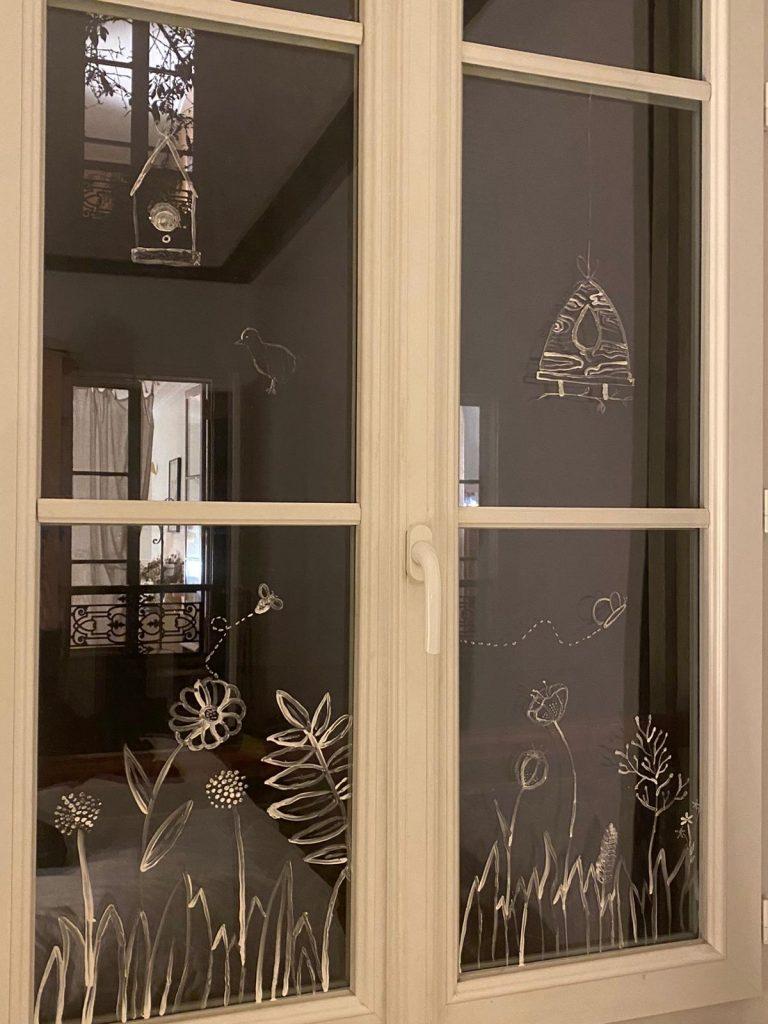 Décoration pâques fenêtres