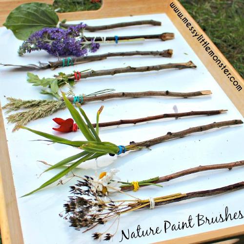 pinceaux naturels