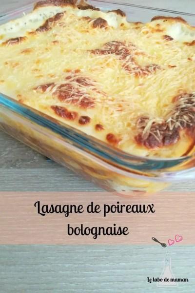 poireaux - bolognaise - lasagne - enfants - facile - familiale -recette - companion