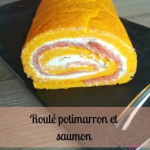 roulé - potimarron -saumon -fromage - companion - automne