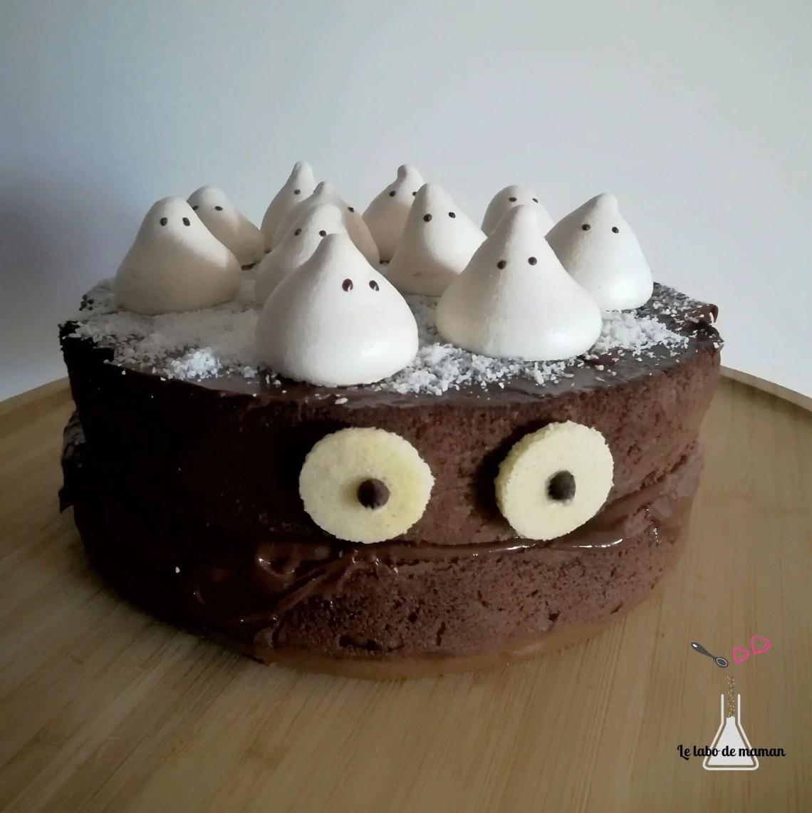 molly cake - monstre - halloween - chocolat - meringue - cake design - facile