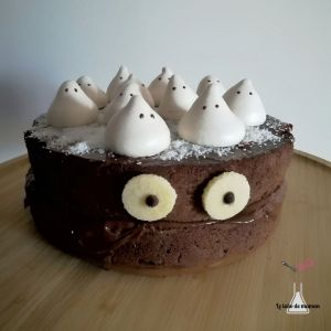 molly cake - monstre - halloween - chocolat - meringue - cake design - facile