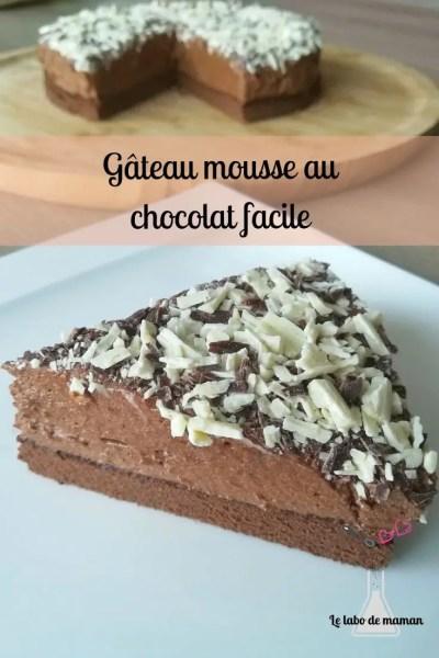gâteau - mousse au chocolat - génoise chocolat - chocolat - facile - dessert - tout chocolat - companion