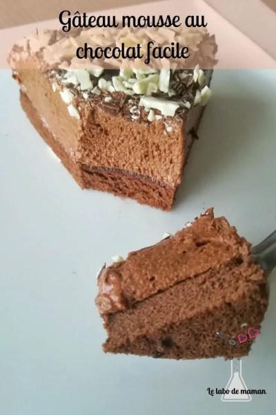 gâteau - chocolat - génoise - companion - mousse - dessert - facile