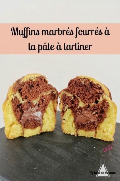 muffin marbré coeur pâte à tartiner