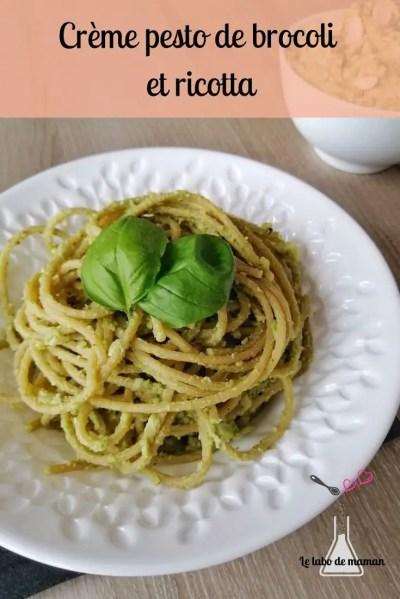 spaghettis crème brocoli ricotta