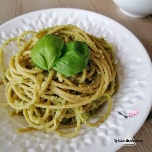 spaghettis pesto brocoli companion